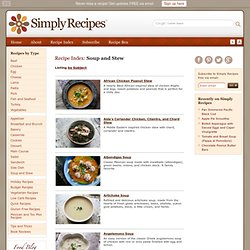 Simply Recipes: Soup and Stew Recipes