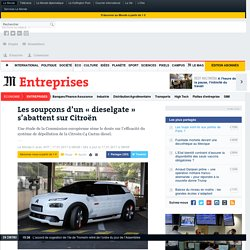 Les soupçons d'un «dieselgate» s'abattent sur Citroën