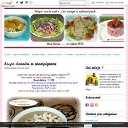 Soupe d'avoine et champignons