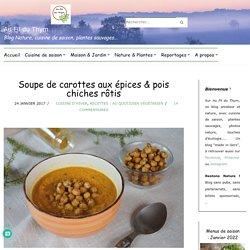 Soupe de carottes aux épices & pois chiches rôtis