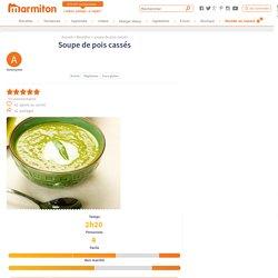 Soupe de pois cassés : Recette de Soupe de pois cassés