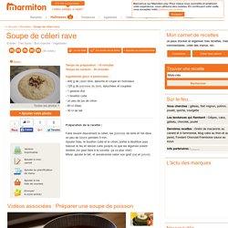 Soupe de céleri rave - Recette de cuisine Marmiton : une recette