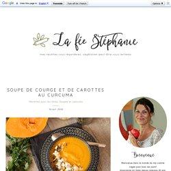 Soupe de courge et de carottes au curcuma