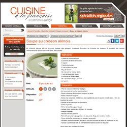 Soupe au cresson alénois