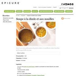 Soupe à la dinde et aux nouilles