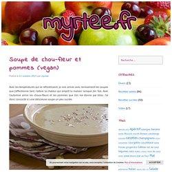 Soupe de chou-fleur et pommes (vegan)