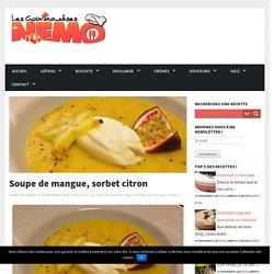 Soupe de mangue, sorbet citron