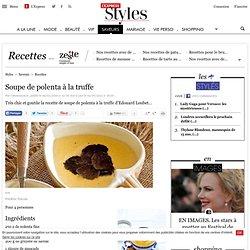 Recette Soupe de polenta à la truffe