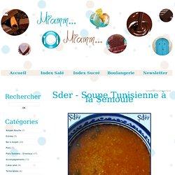 Sder - Soupe Tunisienne à la Semoule - Miamm...