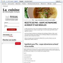 Pho - soupe vietnamienne au boeuf et aux nouilles