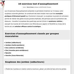 Exercices d'assouplissement et Tests