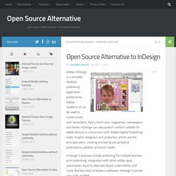 Open Source Alternative to InDesign
