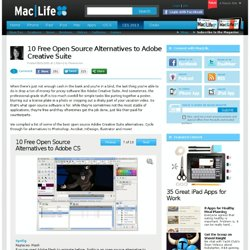 10 Free Open Source Alternatives to Adobe Creative Suite