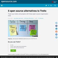 5 open source alternatives to Trello