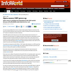 Open-source ERP grows up | Applications