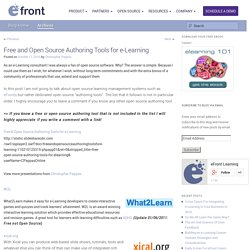Free and Open Source Authoring Tools for e-Learning