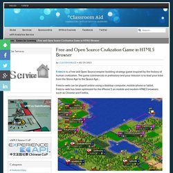 Free and Open Source Civilization Game in HTML5 Browser