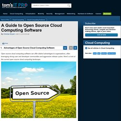 A Guide to Open Source Cloud Computing Software