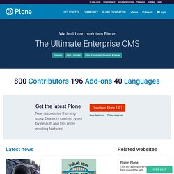 Plone CMS: Open Source Content Management