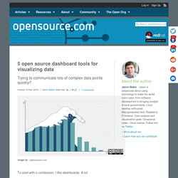 Open source dashboard tools for visualizing data