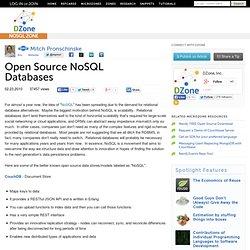 Open Source NoSQL Databases