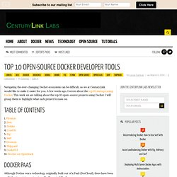 Top 10 Open-Source Docker Developer Tools