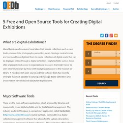 5 Open Source Tools to Create Digital Exhibitions