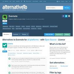 Open Source Evernote Alternatives