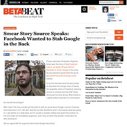 Smear Story Source Speaks