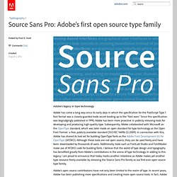Source Sans Pro: Adobe's first open source type family « Typblography