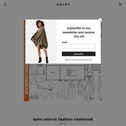 open source fashion cookbook – ADIFF