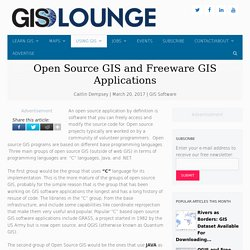 Open Source GIS and Freeware GIS Applications - GIS Lounge