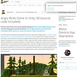 Angry Birds Clone in Unity 3D (source code included) - Scenes From A Developer Memory