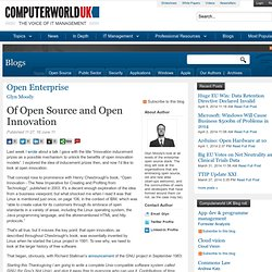 Of Open Source and Open Innovation