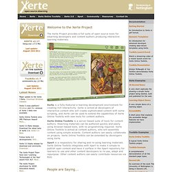 Xerte - Open Source E-Learning Developer Tools