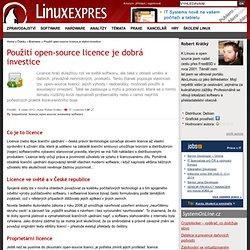 Použití open-source licence je dobrá investice