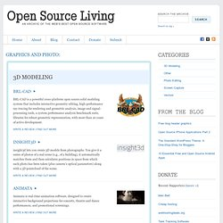 Open Source Living » Graphics and Photo