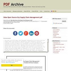 Odoo Open Source Erp Supply Chain Management .pdf - PDF Archive