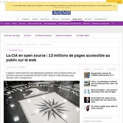 La CIA en open source : 13 millions de pages accessible au public sur le web