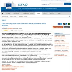 Open source groups warn Greece will waste millions on school software