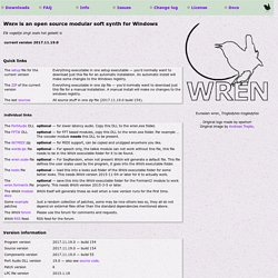 WREN is an open source modular soft synth for Windows