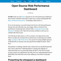 Open Source Web Performance Dashboard