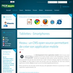 Keosu : CMS open source pour créer son application mobile