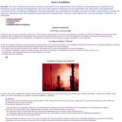 Source de pollution atmosphérique