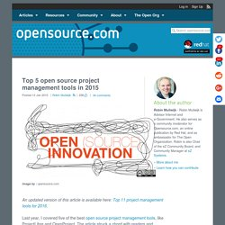 Five new open source project management tools for 2015
