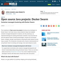 Open source Java projects: Docker Swarm