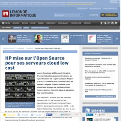 HP mise sur l'Open Source pour ses serveurs cloud low cost