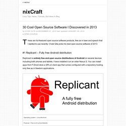 30 Cool Open Source Software I Discovered in 2013