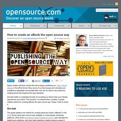 Use open source tools to create your own eBooks