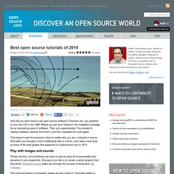 Top open source tutorials in 2014